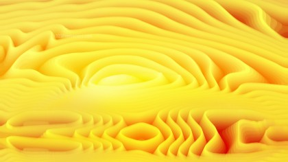 Yellow 3d Abstract Curved Lines Background