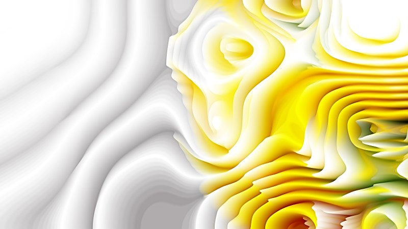 Yellow and White 3d Curved Lines Texture