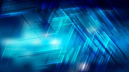 Abstract Black and Blue Chaotic Lines Background
