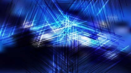 Abstract Black and Blue Random Intersecting Lines background Vector Art
