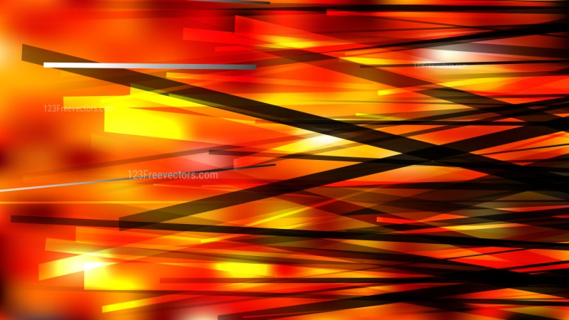 Black Red and Yellow Chaotic Overlapping Lines Background Vector Graphic