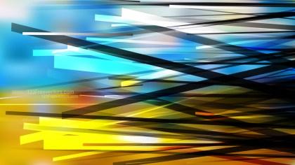 Blue and Orange Irregular Lines Background Image