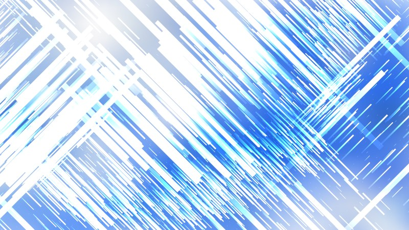Blue and White Random Chaotic Lines Abstract Background