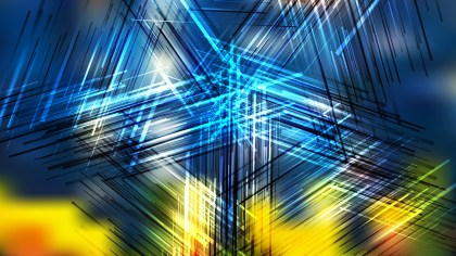 Abstract Blue and Yellow Overlapping Lines Background Design