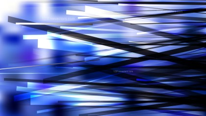 Blue Black and White Irregular Lines Background Vector