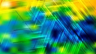 Blue Green and Yellow Geometric Random Irregular Lines Background Vector Image