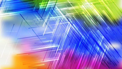 Abstract Colorful Asymmetric Irregular Lines Background Vector Art