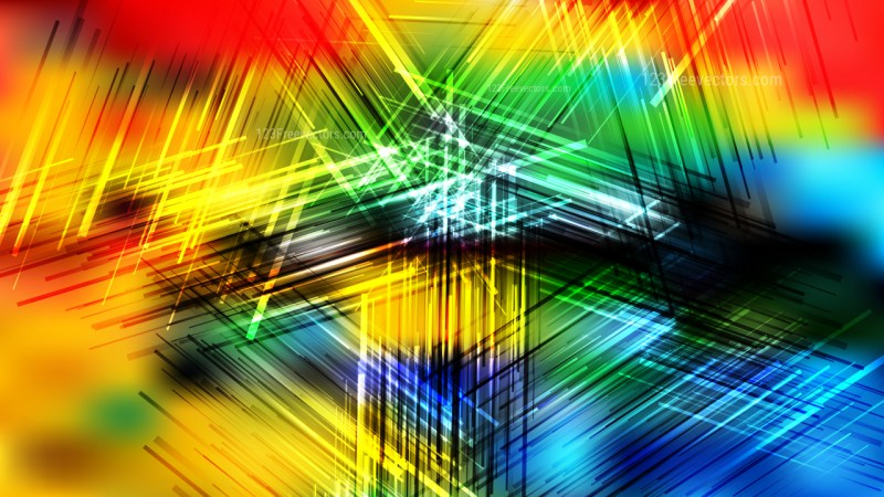Colorful Overlapping Intersecting Lines Background Illustration