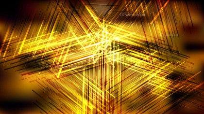 Cool Gold Chaotic Overlapping Lines Background