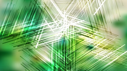 Green and White Random Abstract Overlapping Lines Background