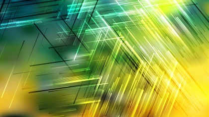 Abstract Green and Yellow Asymmetric Random Lines Background