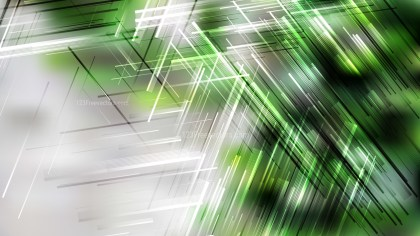 Abstract Green Black and White Irregular Lines Background