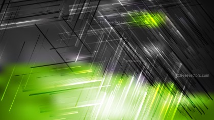 Abstract Green Black and White Dynamic Random Lines Background