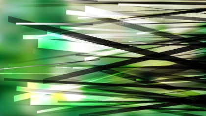 Abstract Green Black and White Intersecting Lines Stripes Background