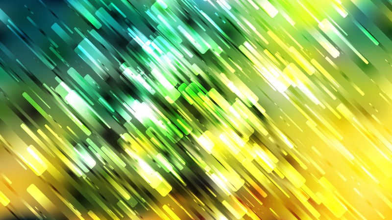 Abstract Green Yellow and White Random Diagonal Lines Background