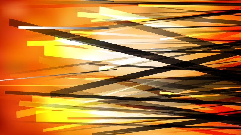 Orange and Black Chaotic Overlapping Lines Background Image