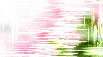 Pink Green and White Random Chaotic Lines Abstract Background Vector