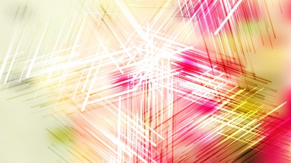 Abstract Pink Yellow and White Chaotic Overlapping Lines Background