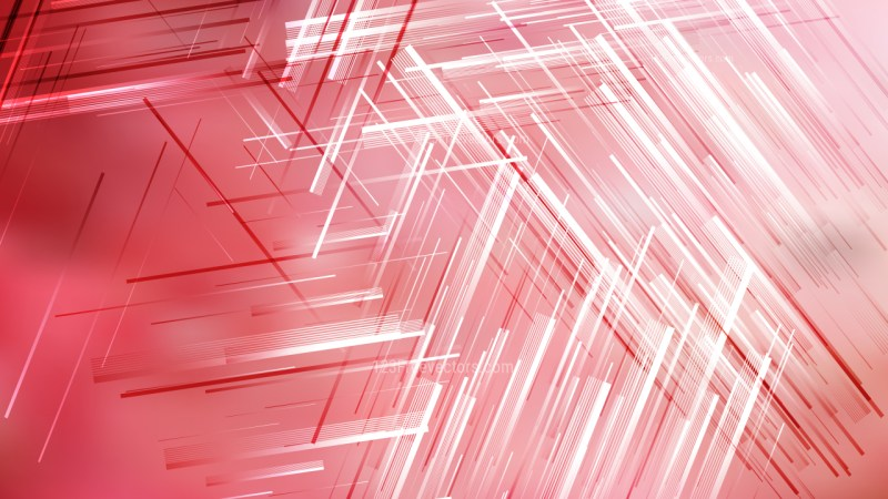 Abstract Red and White Dynamic Irregular Lines Background Vector