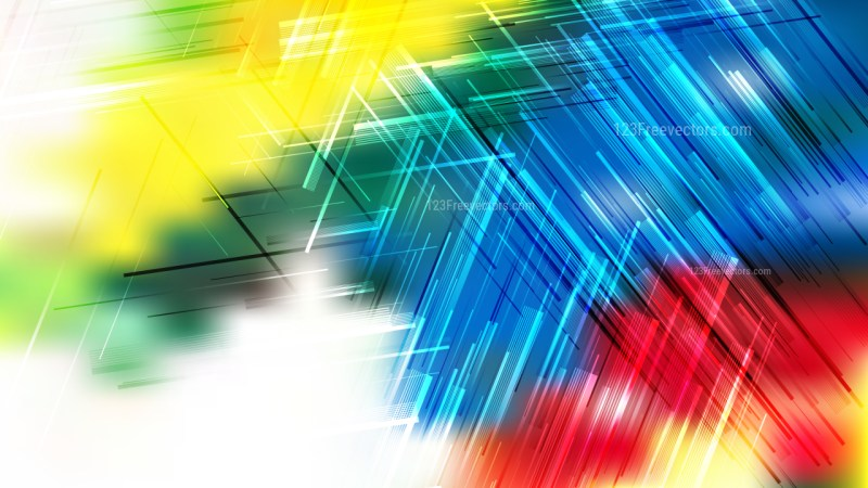 Red Yellow and Blue Random Lines Background