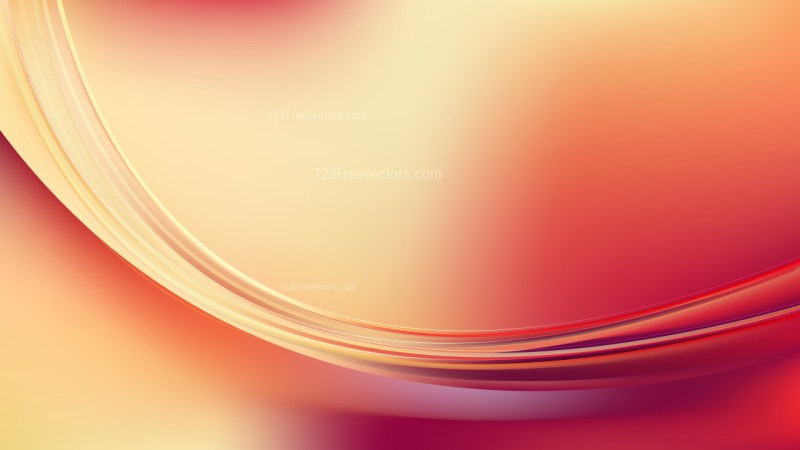 Beige and Red Abstract Curve Background Illustration