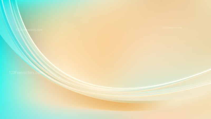 Abstract Beige and Turquoise Wave Background Template Illustrator
