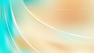 Beige and Turquoise Abstract Wavy Background Vector Graphic