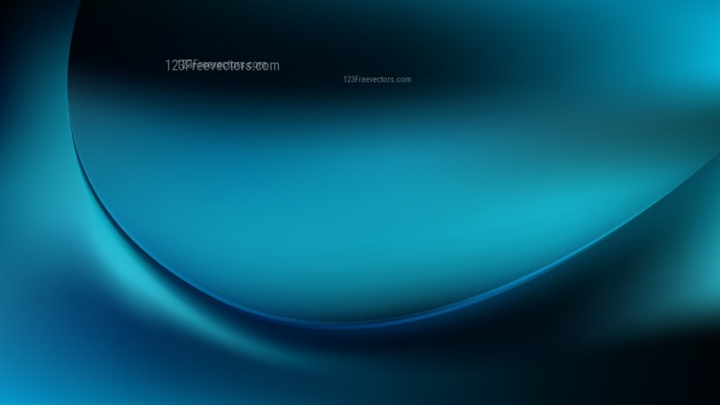 Abstract Black and Blue Wave Background