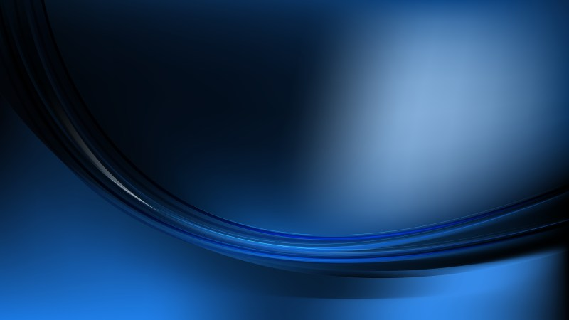 Glowing Black and Blue Wave Background