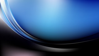 Black and Blue Abstract Wave Background Template Vector