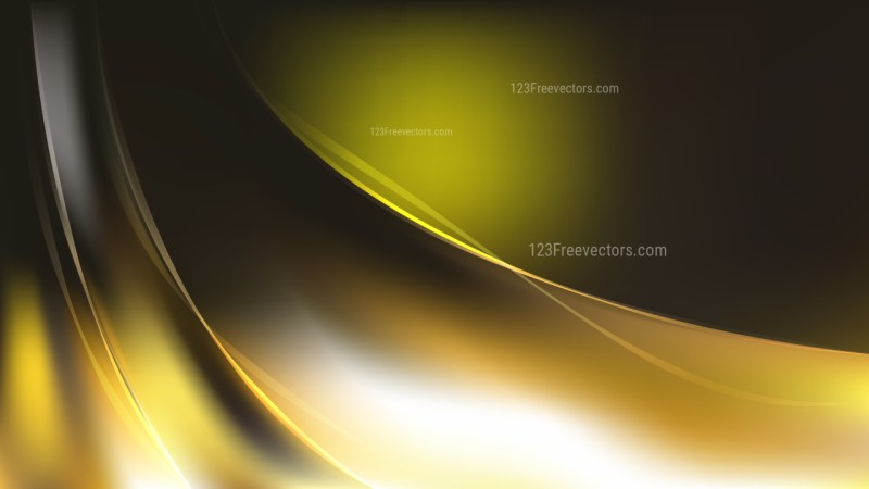 Black and Gold Abstract Wave Background