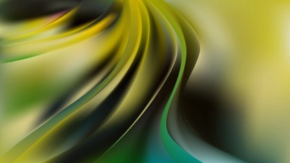 Black Green and Yellow Abstract Curve Background