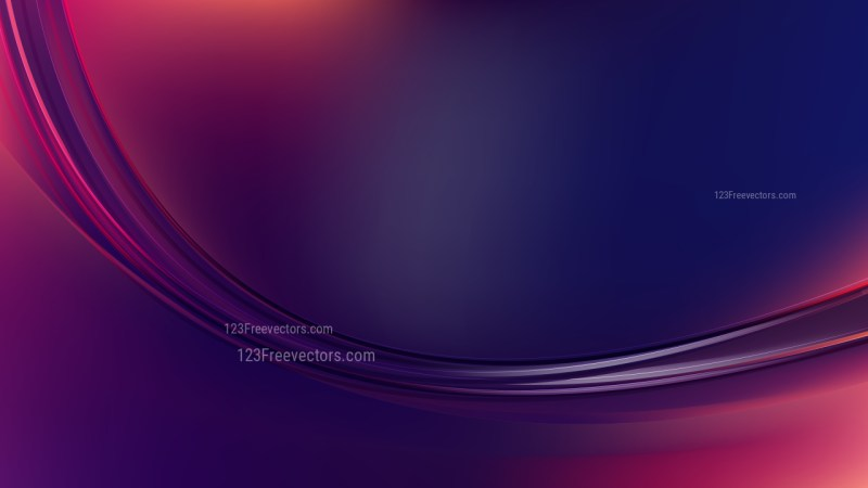Abstract Black Pink and Blue Curve Background