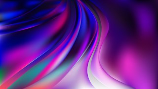 Glowing Black Pink and Blue Wave Background Illustration