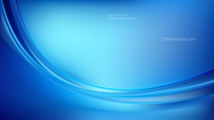 Abstract Blue Curve Background Vector Art