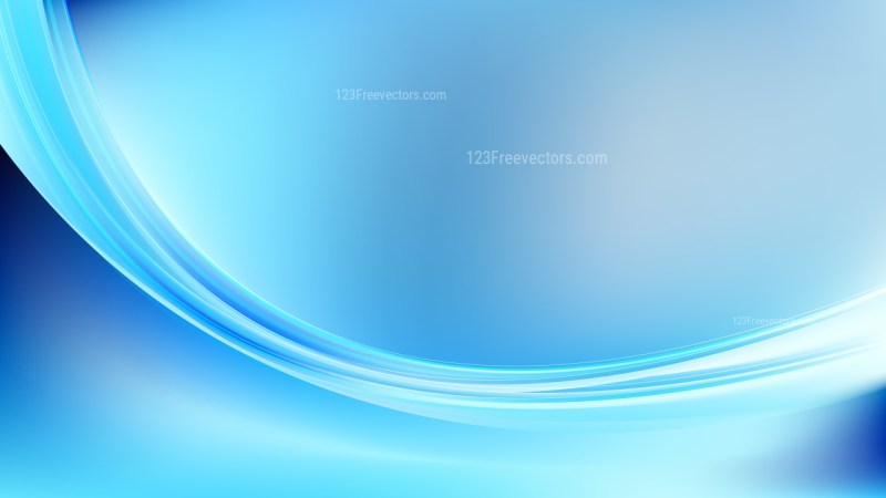 Blue Abstract Curve Background Vector Illustration