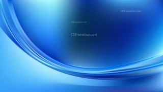 Glowing Blue Wave Background Vector Graphic