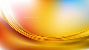 Abstract Blue and Orange Curve Background