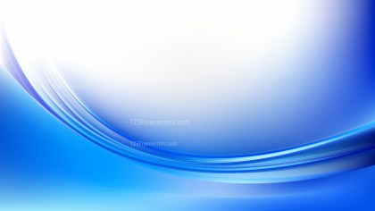 Abstract Blue and White Shiny Wave Background Graphic