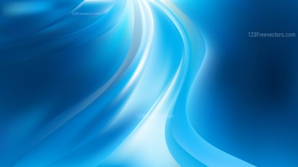 Abstract Blue and White Wave Background Vector Illustration