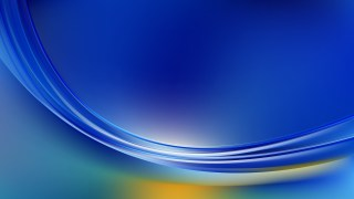Blue and Yellow Abstract Wave Background Template