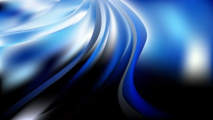 Glowing Blue Black and White Wave Background Illustration