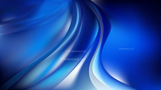 Abstract Glowing Blue Black and White Wave Background
