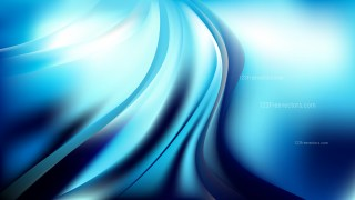 Abstract Blue Black and White Wave Background