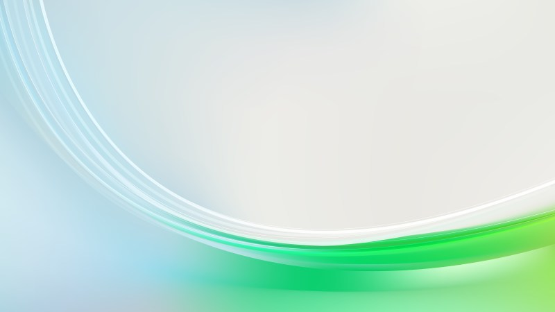 Blue Green and White Abstract Wavy Background Illustrator