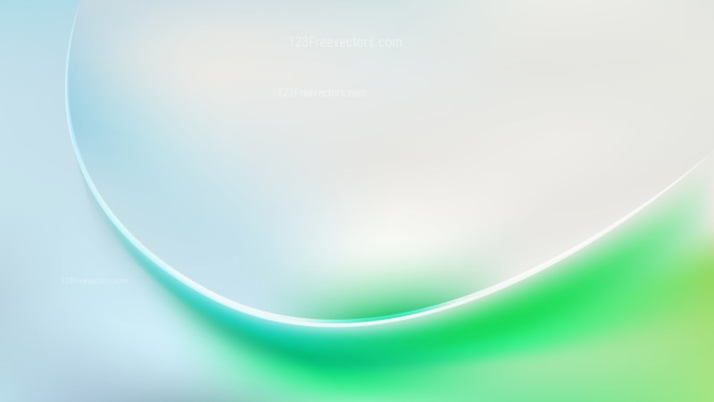 Blue Green and White Abstract Wavy Background Design