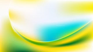 Blue Green and Yellow Abstract Wave Background Template Graphic