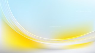 Blue Yellow and White Abstract Wave Background Template Design