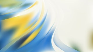Abstract Blue Yellow and White Shiny Wave Background