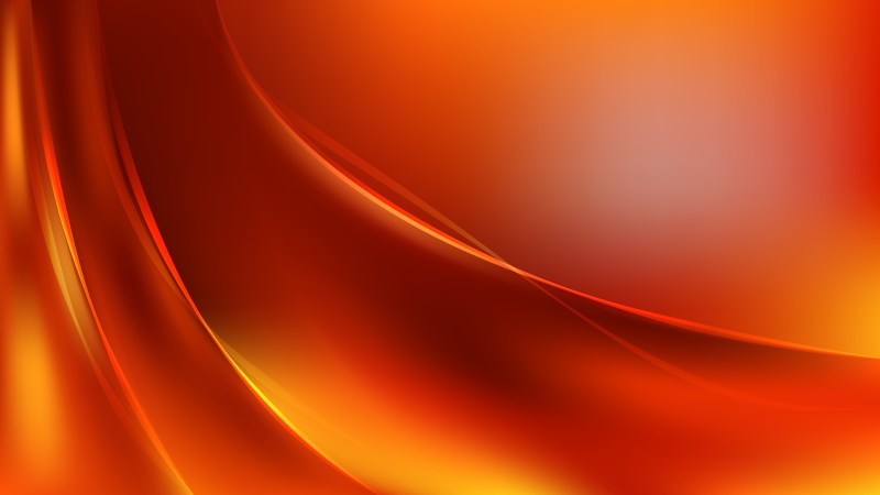Glowing Bright Orange Wave Background